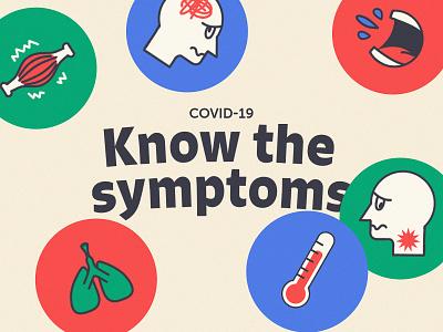 Stickers - Know the Covid-19 symptoms sore pain symptoms stickers