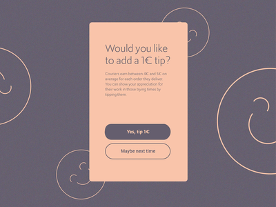 Adding a Tip | Animation mobile animated flip coin courier tip