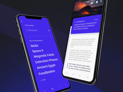 Science News | Interactions search posts news article blog app design app