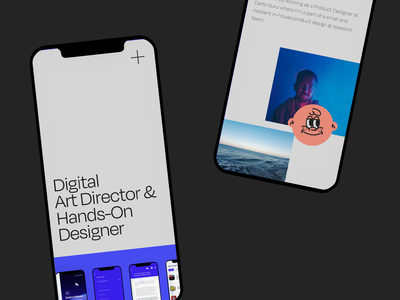 Portfolio | Mobile pages awards contact project about showreel webflow mobile portfolio