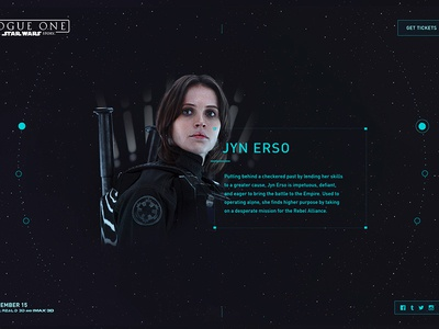 Rogue One: A Star Wars Story | Website Concept II