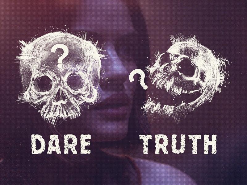 Truth or Dare   Skulls illustrations drawn grunge truth skulls movie horror dare