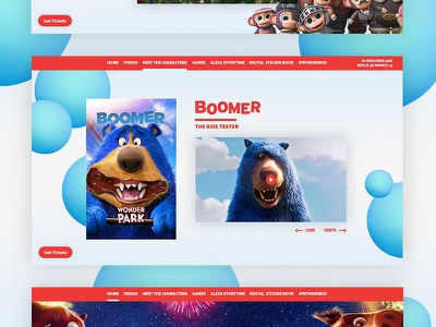 Wonderpark   Characters Page animated movie animals magic blue red kids