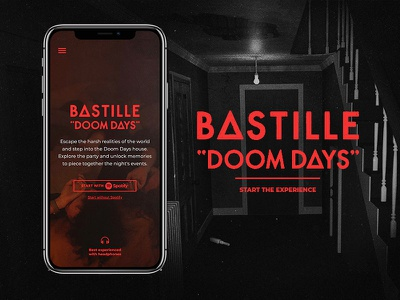 Bastille   Doom Days Experience red mobile experience music squat drinks party house 3d bastille