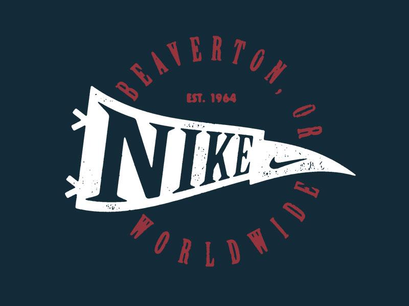 Nike badge logo oregon swoosh pennant banner nike flag
