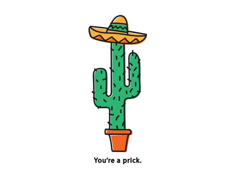 Cactus prick desert sombrero cactus