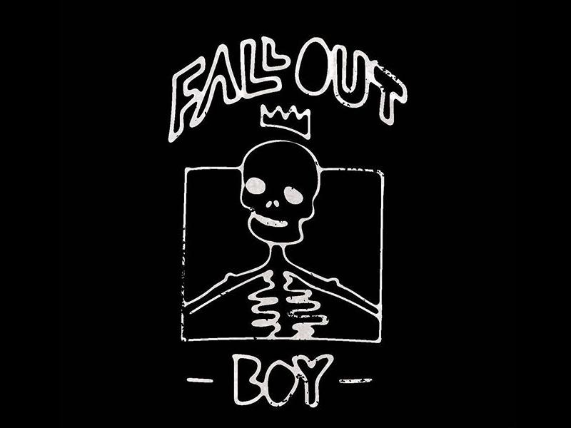 Fall Out Boy boy out fall crown skull shirt merch band