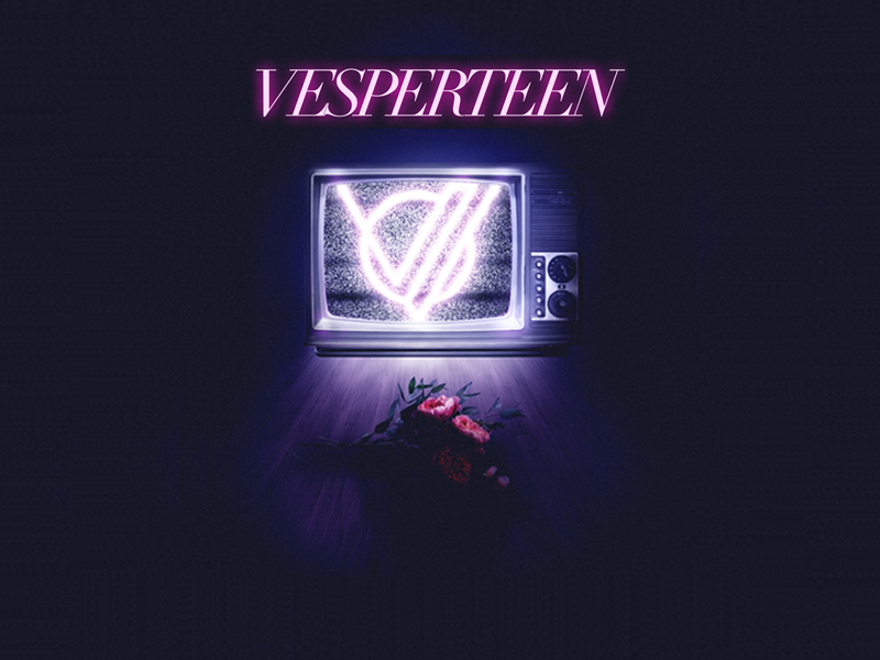 Vesperteen band bouquet dark retro static flowers tv vesperteen