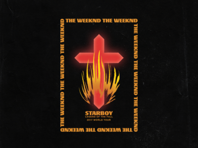 Starboy: Legend of the Fall crucifix band music bible fall flame fire glow cross weeknd staryboy