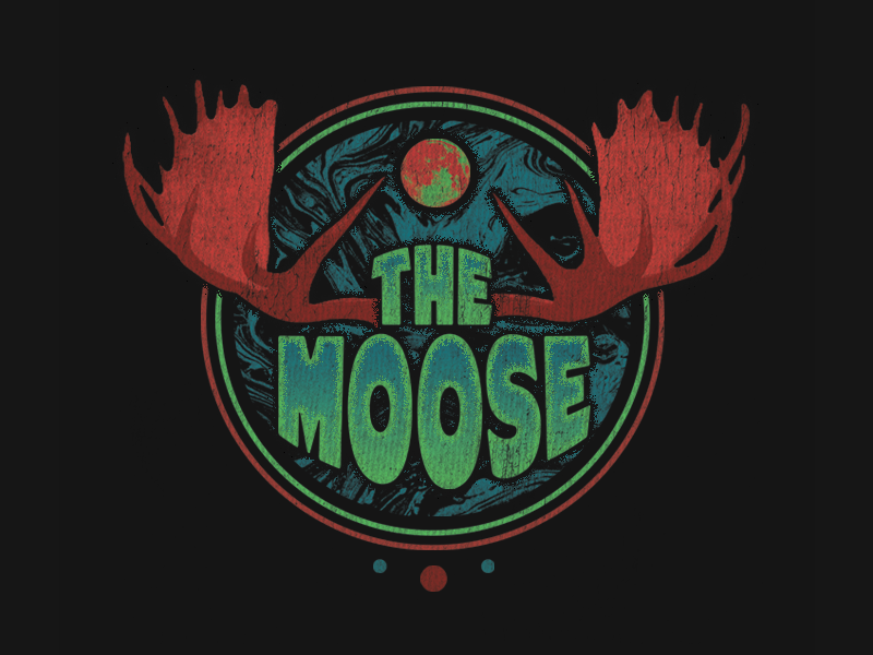 The Moose wavy psychedelic rock music band 80s antlers moon space moose