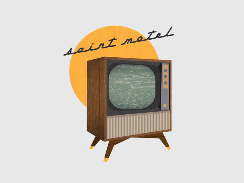 Saint Motel music band static vintage chevy 50s television tv motel saint