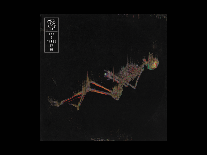 """Five"" five vinyl falling ep band glitch skeleton art album"