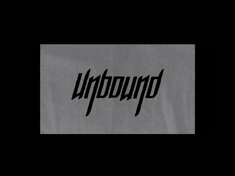 Unbound typography font clothing unbound