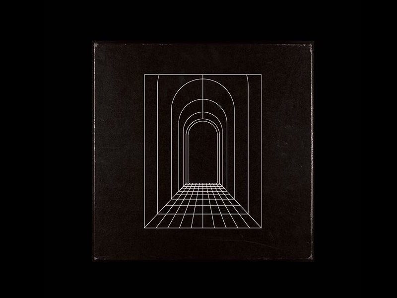 Into the void band music ep album hallway tunnel void linework