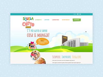 A scuola di Cotto - PARMACOTTO web site web ux ui design