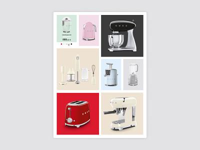Smeg Shop web web site graphic design design