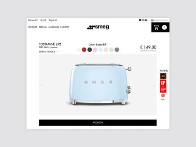 Smeg Shop graphic design ux ui web site web design