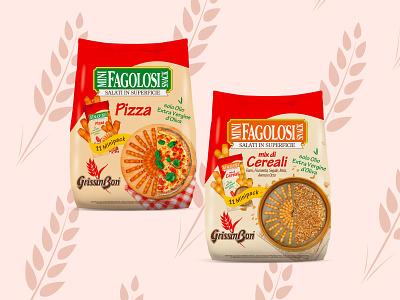 MINIFAGOLOSI PACK - GrissinBon italian food food packaging graphic design design