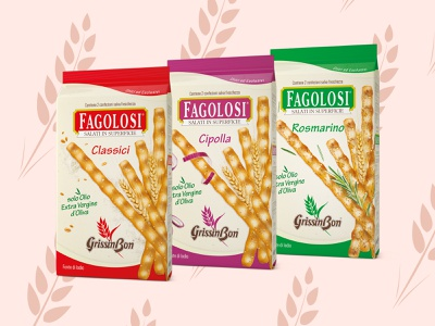 FAGOLOSI PACK - GrissinBon italian food food packaging pack graphic design design