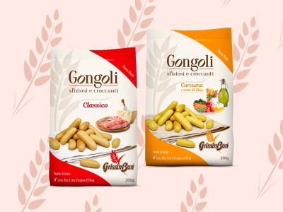 GONGOLI PACK - GrissinBon italian food food packaging pack graphic design design