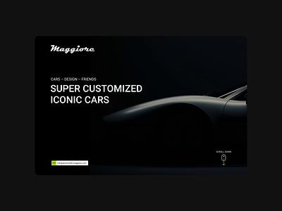 Maggiore ferrari restomod car landing page branding ux ui web site web graphic design design