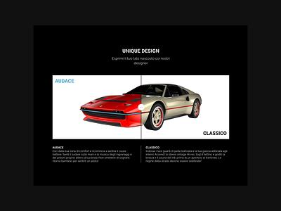 Maggiore ferrari restomod cars visual design ux ui web site web graphic design design