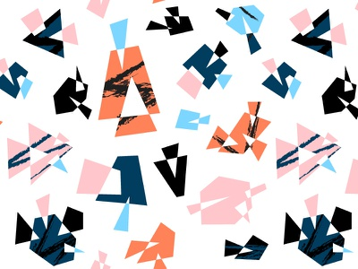 Abstract Geometrical Seamless Pattern triangle polygon square grunge style geometrical geometric polygonal abstract retro modern background texture design seamless pattern illustration vector