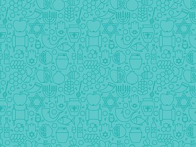 Jewish Judaism Rosh Hashanah Seamless Pattern background outline year new hashanah rosh judaism vector pattern line seamless jewish