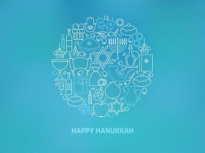 Happy Hanukkah Line Art Blurred Concept judaism oil menorah hebrew hanukkah dreidel david jewish religion holiday outline line
