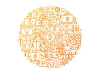 Bitcoin Line Art Concept