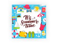 Summer Time Postcard