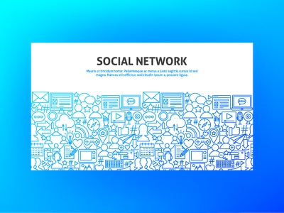 Social Network Banner connection computer internet communication line art line illustration header banner vector social network social media