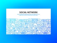Social Network Banner