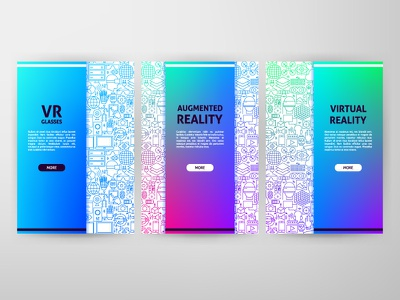 Vr Line Web Banners web banner banner outline illustration vector line augmentedreality augmented virtual reality reality virtual ar vr