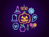 Halloween Neon Concept