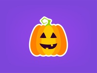 Sticker Mule Halloween Playoff jack o lantern lantern vegetable october holiday happy icon happy halloween scary trickortreat pumpkin illustration vector halloween