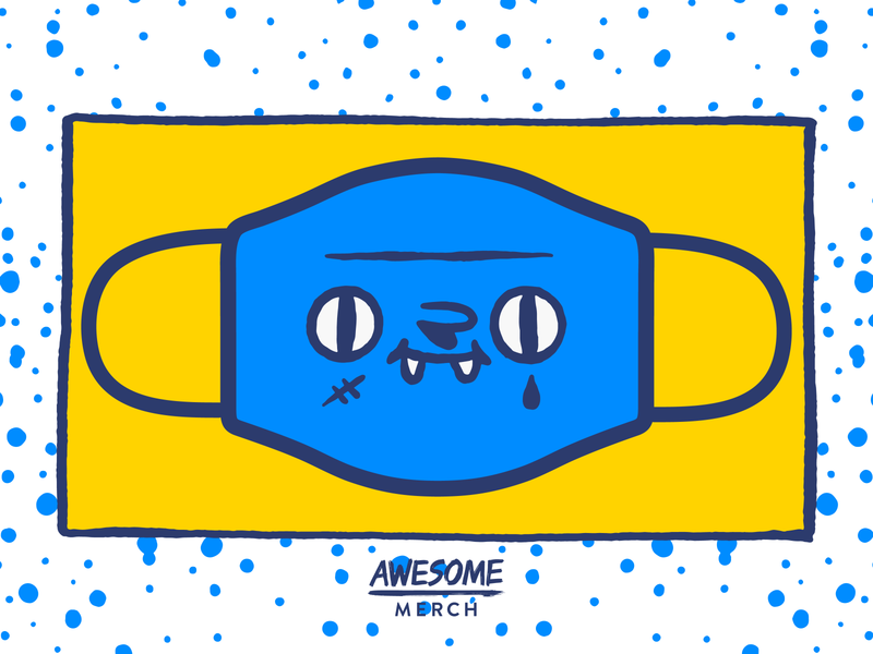 Design For Good Mask Challenge a challege for good dibbble awesome merch face mask challenge good dribbble invite rebound facemask
