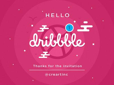 Hello Dribbble shot debut dribbble hello