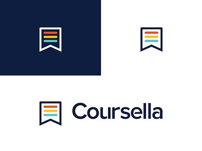 Coursella   final logo  education e-learning coursella brand branding logodesign logo