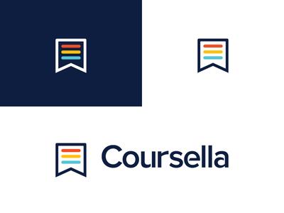 Coursella | final logo  education e-learning coursella brand branding logodesign logo
