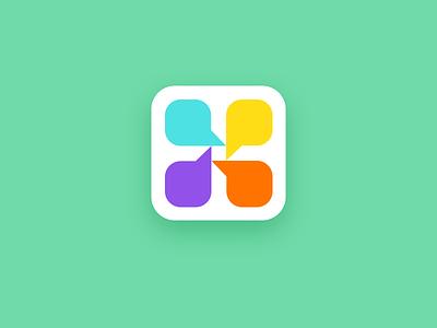 Talky Icon icon app messaging talk unused brand branding logodesign logo