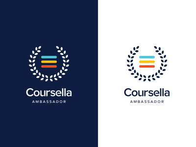 Coursella Ambassador | logo ambassador education e-learning coursella brand branding logodesign logo