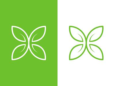 Herbal H Mark herbal leaves leaf green logodesign branding brand cosmitics logo mark h