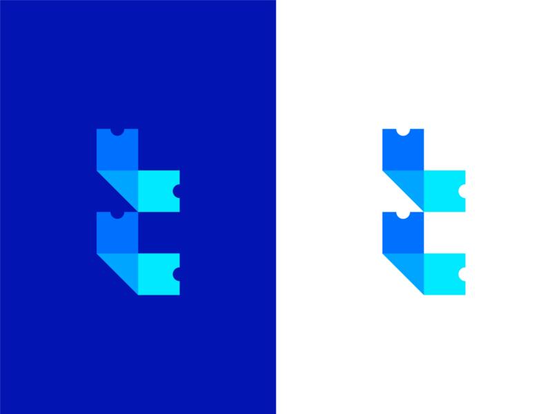 T Ticket logo ticket t-letter t-mark t brand mark logodesign branding logo