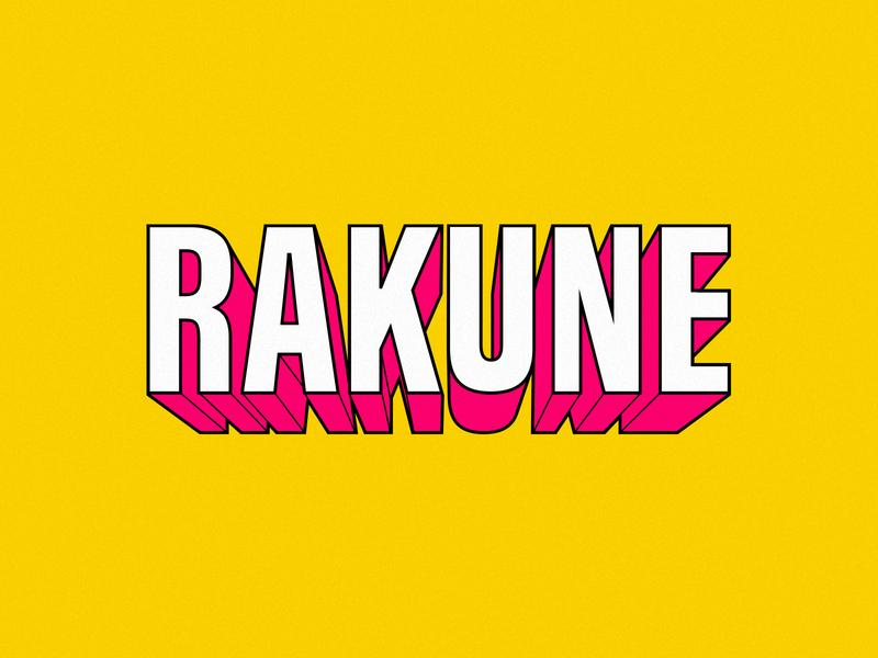 Rakune 3d type typography type retro comic type comic art comic comic book edm