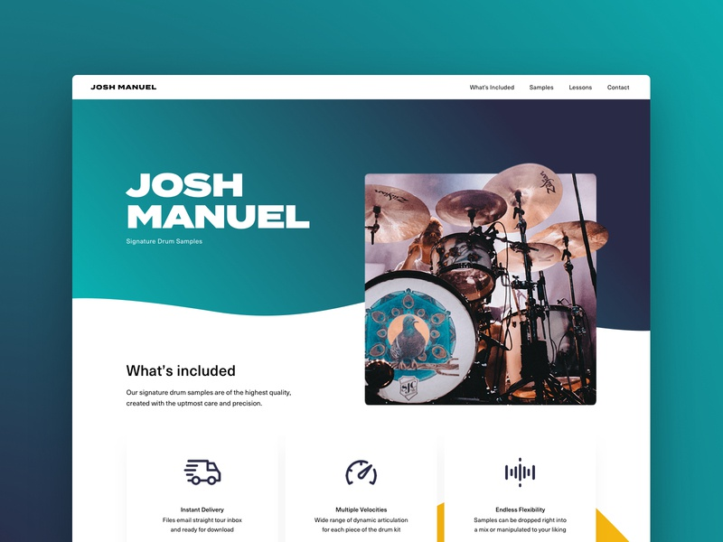 Josh Manuel Website web design web website design branding ux clean ui dailyui