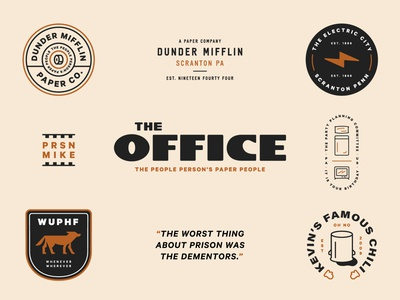 The Office illustraion wuphf typography branding brand badge the office