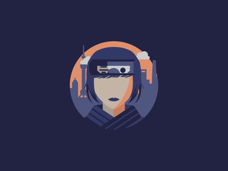 Ghost In The Shell By Evan Bates On Dribbble