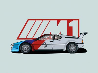 BMW M1 bmw m1 speed fast vector illustration m1 bmw car