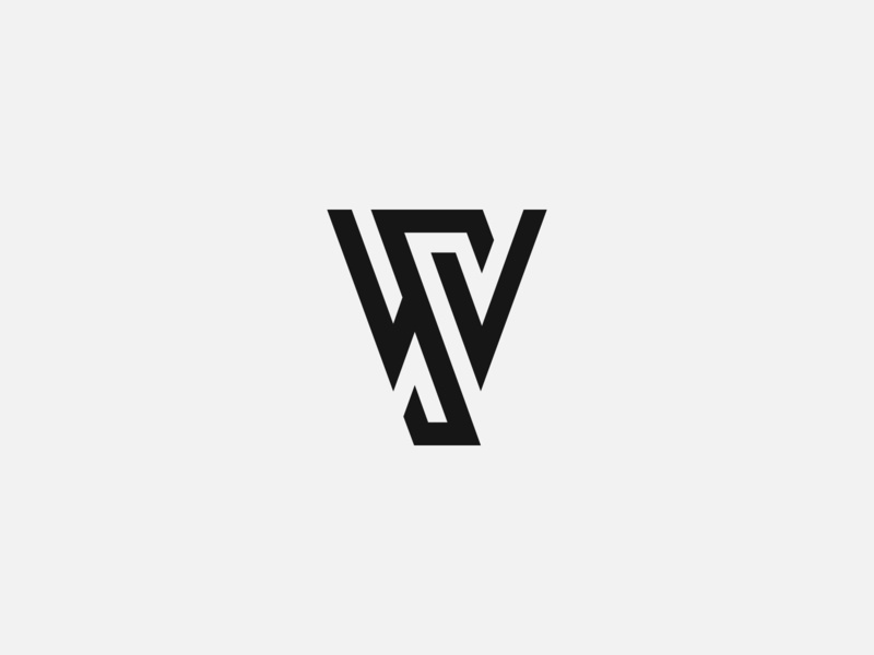WS Monogram modern custom vector branding brand clean grid ws monogram monogram s w typography type logo mark